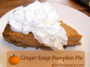 Ginger Snap Pumpkin Pie