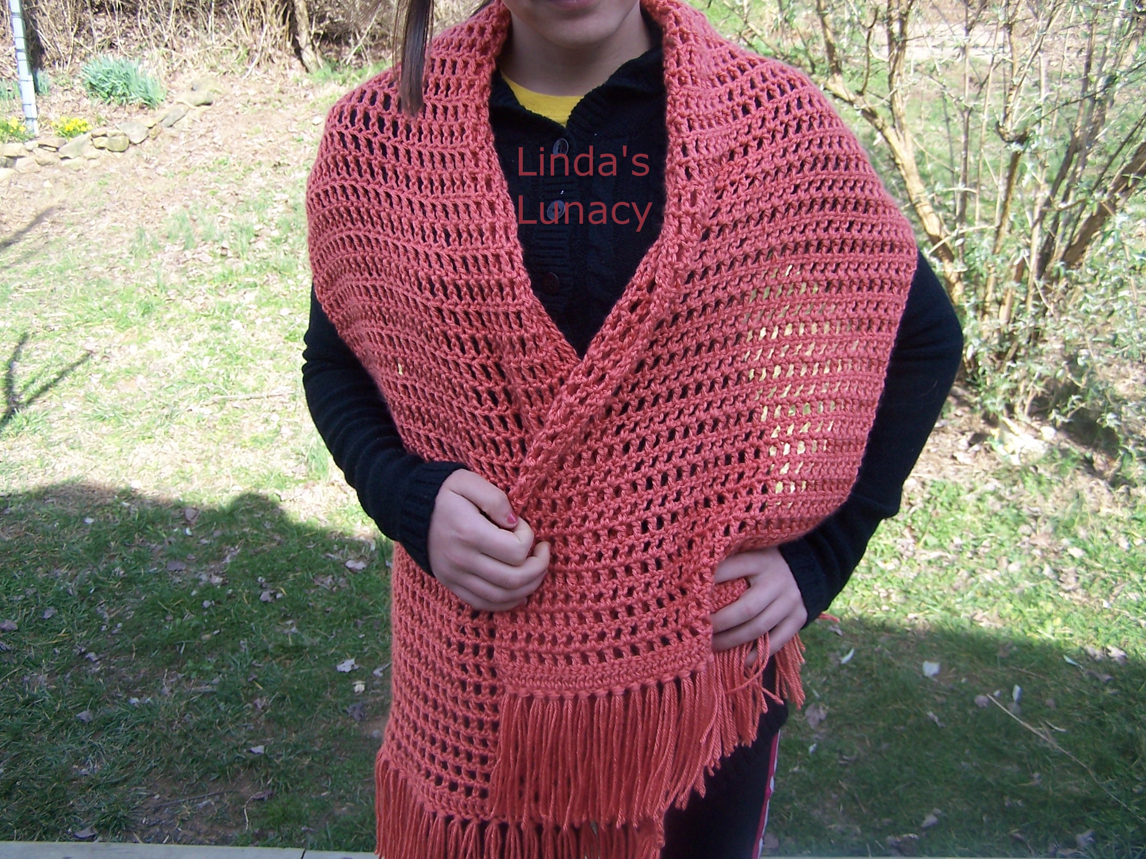 Crocheted Prayer Shawl - Linda's Lunacy