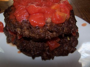 hamburger pie tomato