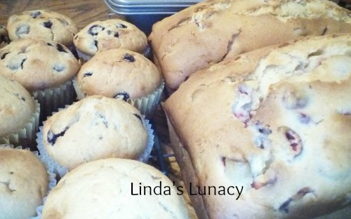 blueberry muffins cranberry bread
