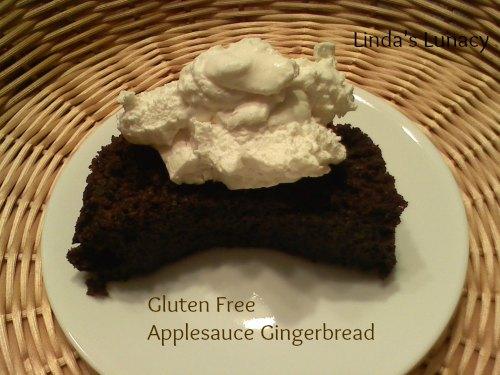 gluten free applesauce gingerbread