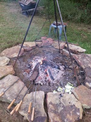 hamburgers firepit
