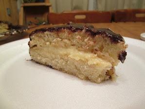 Boston Cream Pie Slice