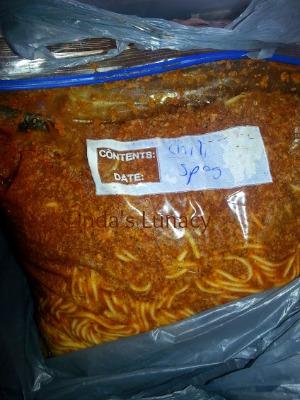 Freezer spaghetti