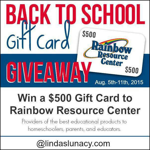 Rainbow Resource Center Gift Card Giveaway - Linda's Lunacy Rainbow Resource Center