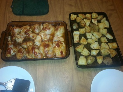 BBQ Chicken Roasted Potatoes