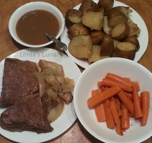 Beef Roast Potatoes Carrots Onions