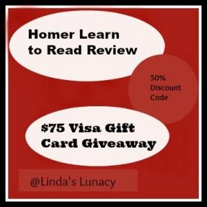 Homer $75 Visa Giftcard Giveaway