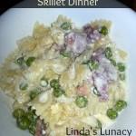 Alfredo Ham & Pasta Skillet Dinner