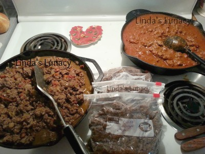 ground venison cooked sloppy joes guisado
