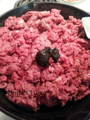 ground venison cooking