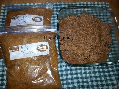 Beef Taco Meat for Freezer