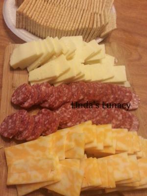 cheese salami platter