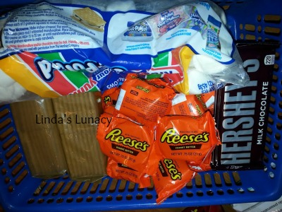 s'mores basket for cookout