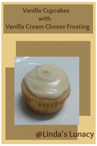 Vanilla Cupcakes with Vanilla Cream Cheese Frosting