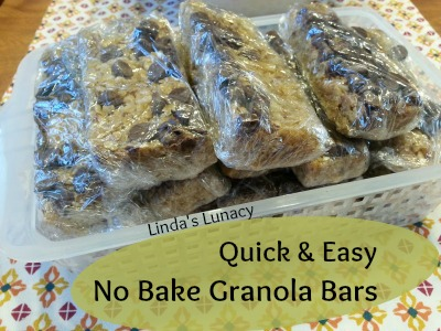 Quick & Easy No Bake Granola Bars
