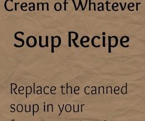 Homemade Cream of Whatever Soup Recipe