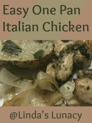 Easy One Pan Italian Chicken and Potatoes