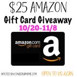 25 Amazon Gift Card Giveaway