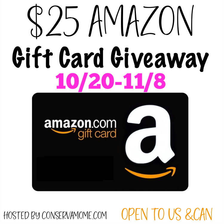 25 Amazon Gift Card Giveaway