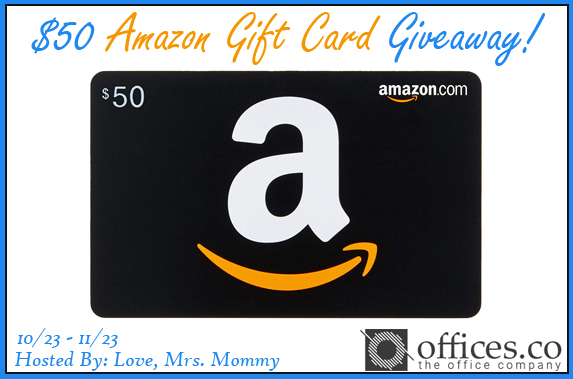 Offices.co $50 Amazon Gift Card Giveaway!