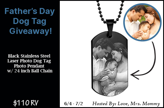 PictureOnGold Father's Day Dog Tag Giveaway