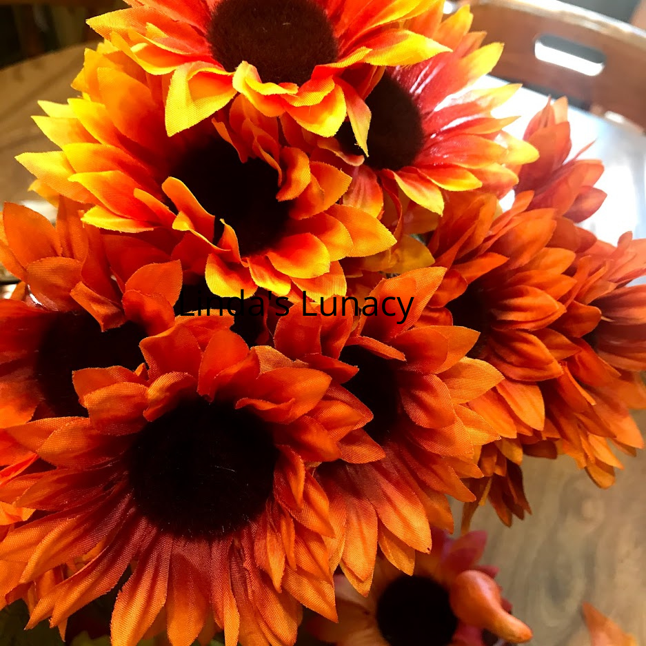 fall decorating flowers
