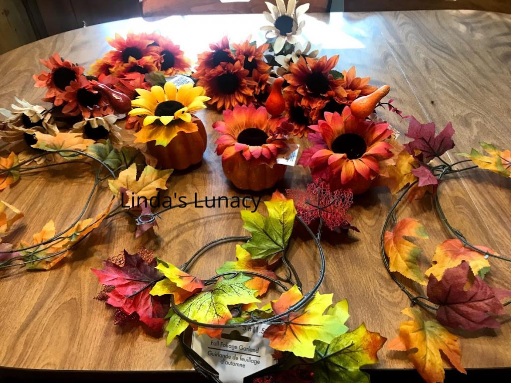 fall decorating leaves pumpkins flowers