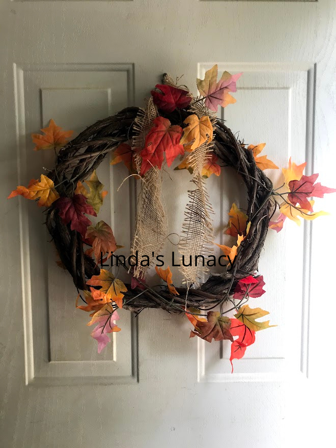 fall decorating wreath